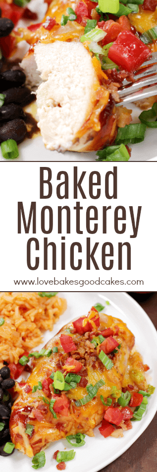 Baked Monterey Chicken collage.