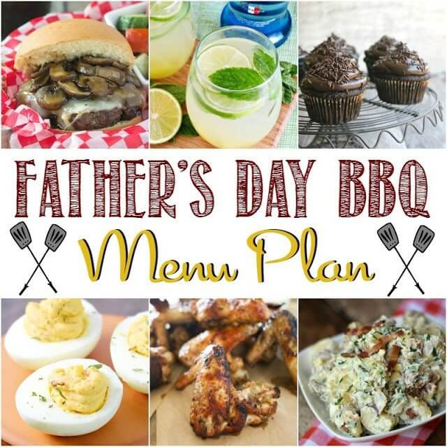 Father's Day BBQ Menu Plan collage.