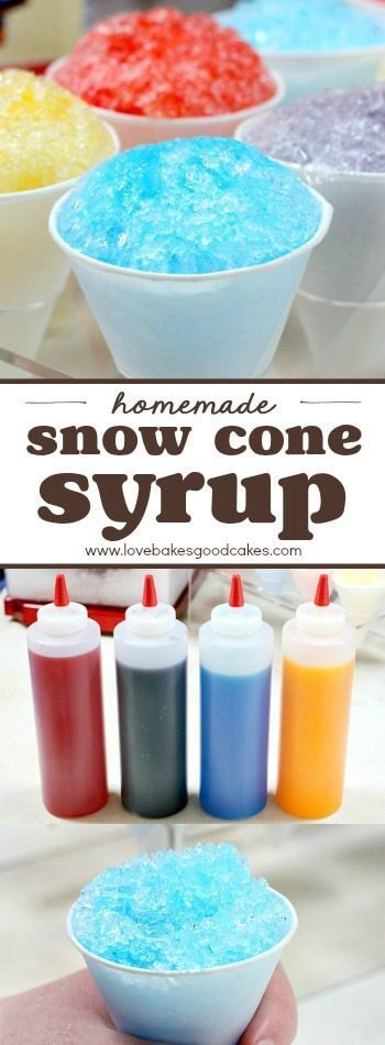 Homemade Snow Cone Syrup collage.