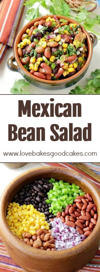 Mexican Bean Salad collage.