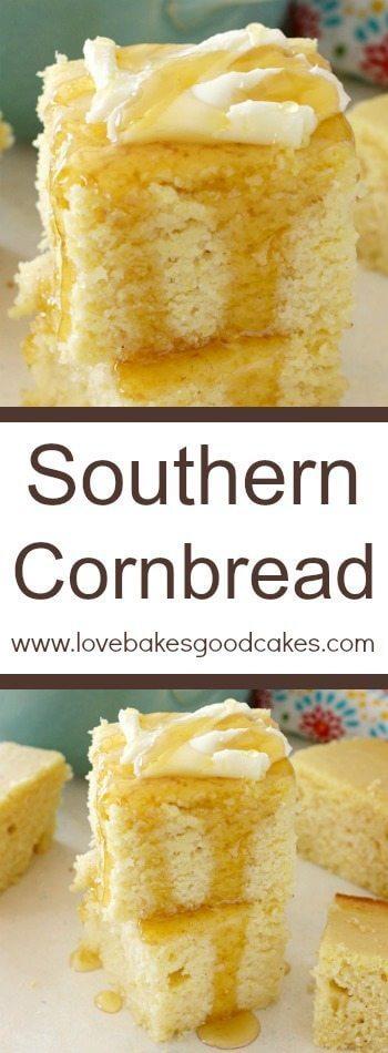 Southern Cornbread collage.