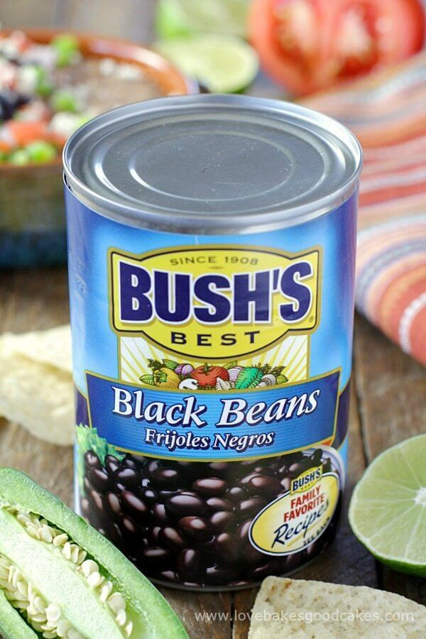 Bush's Black Beans in a can.