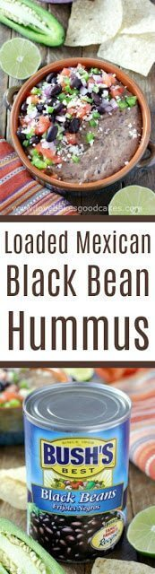 Loaded Mexican Black Bean Hummus collage.