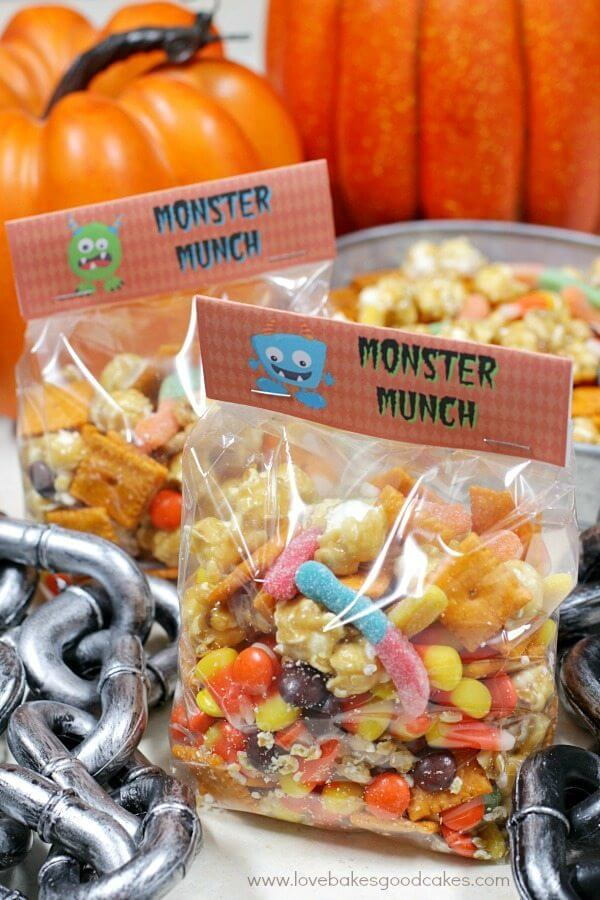 Halloween Monster Munch in bag.