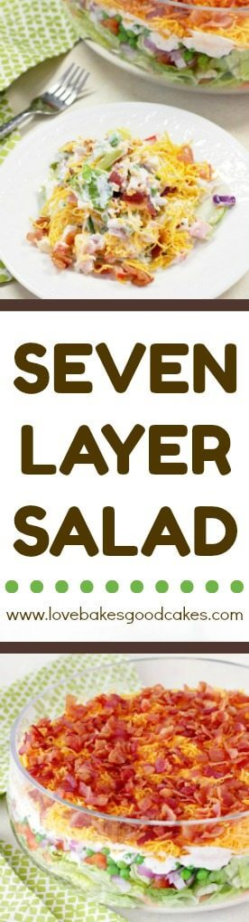 7 Layer Salad collage.