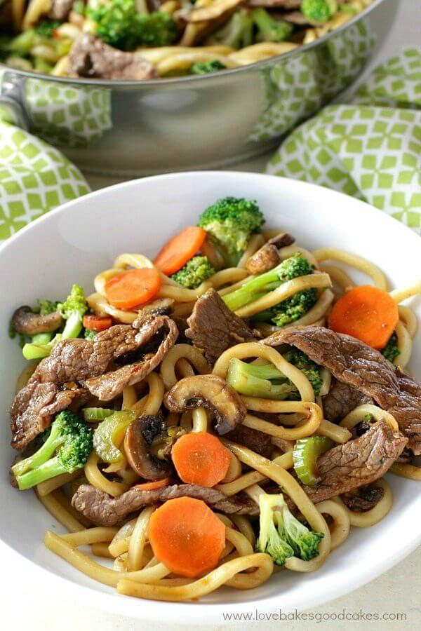 Hoisin Beef Noodle Stir Fry Love Bakes Good Cakes