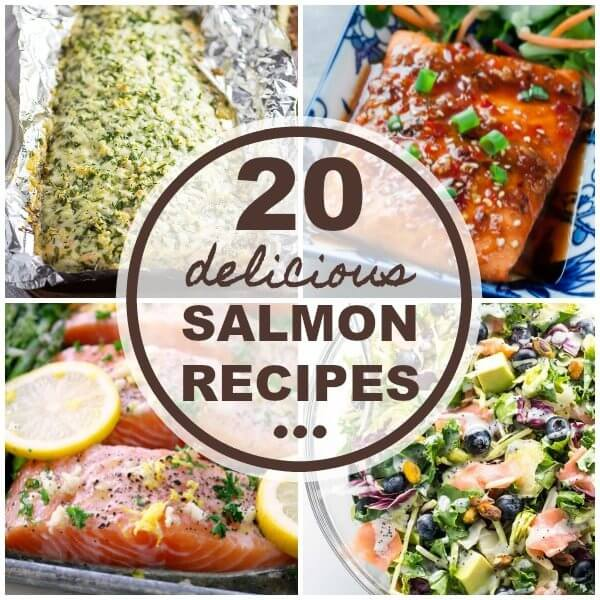 20 Delicious Salmon Recipes collage.