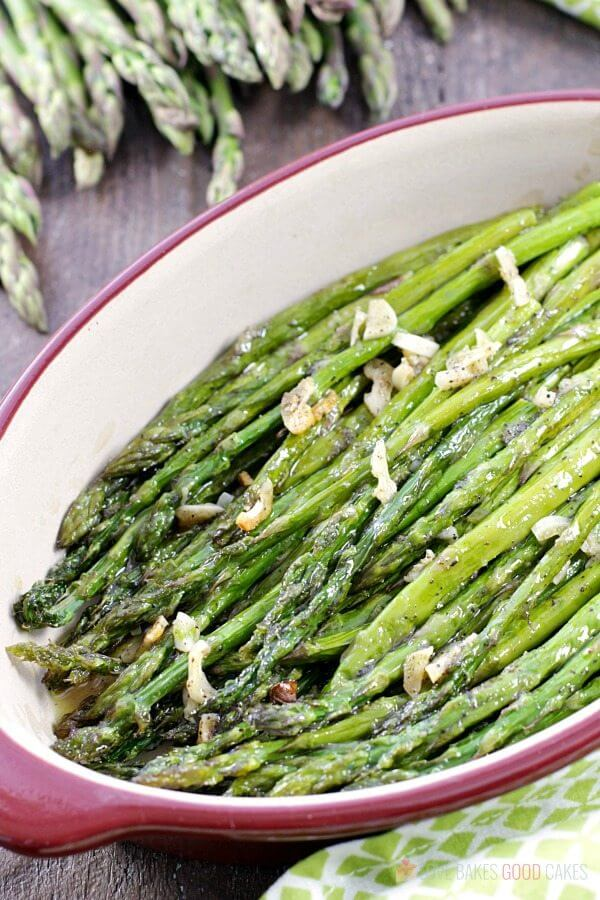 Oven-Roasted Asparagus in a bowl.