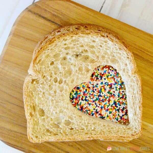 Fairy Sandwich on a cutting board.