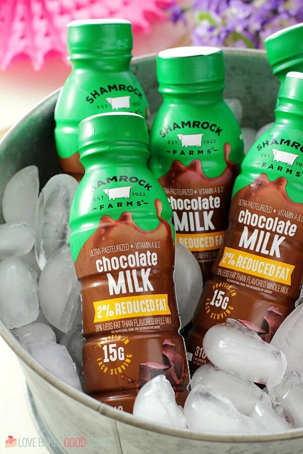 Shamrock Farms milk on ice