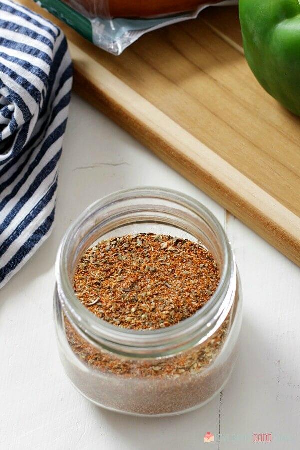 Homemade Cajun-Creole Seasoning on table