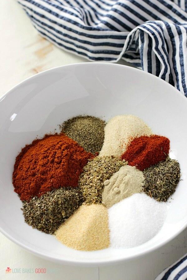Homemade Cajun-Creole Seasoning separate in bowl