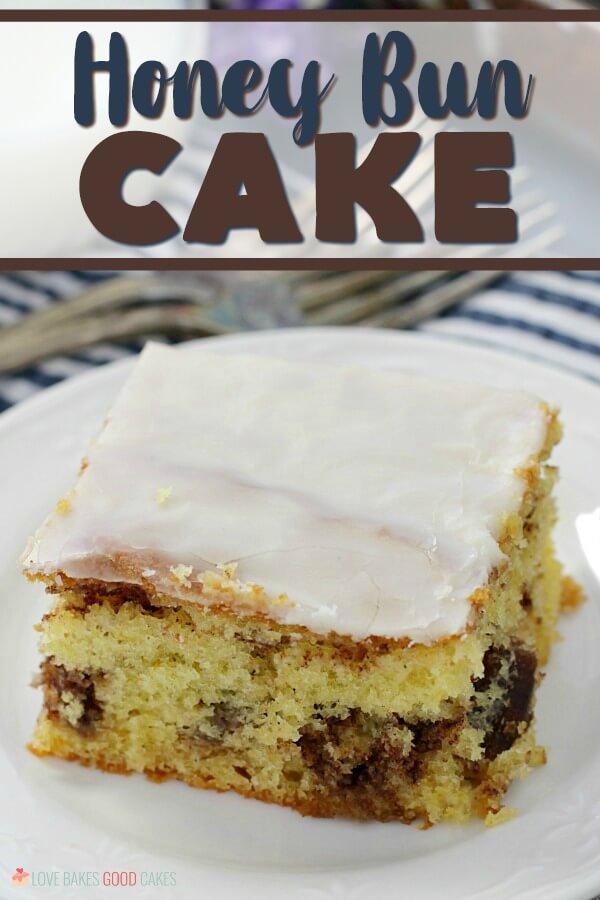 Honey Bun Cake - Hero pic with title