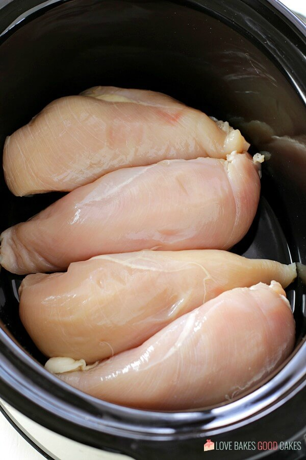 raw chickn in slow cooker