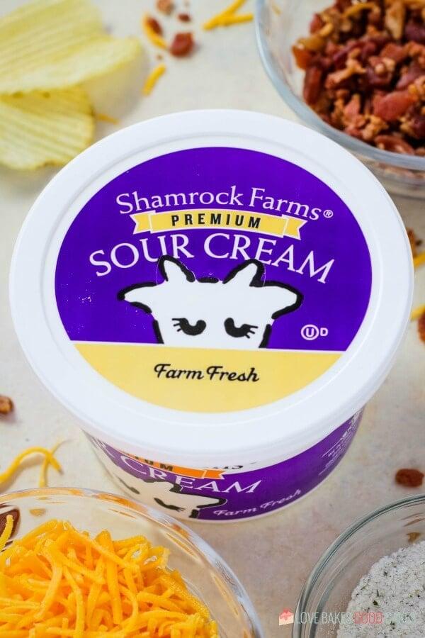 Close-up Shamrock Farms Sour Cream