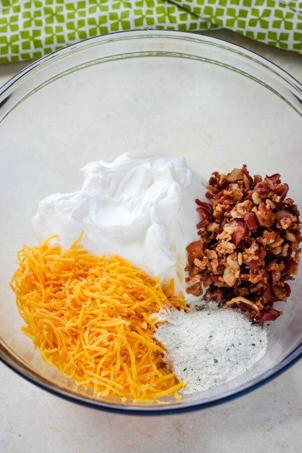 dip Ingredients in bowl