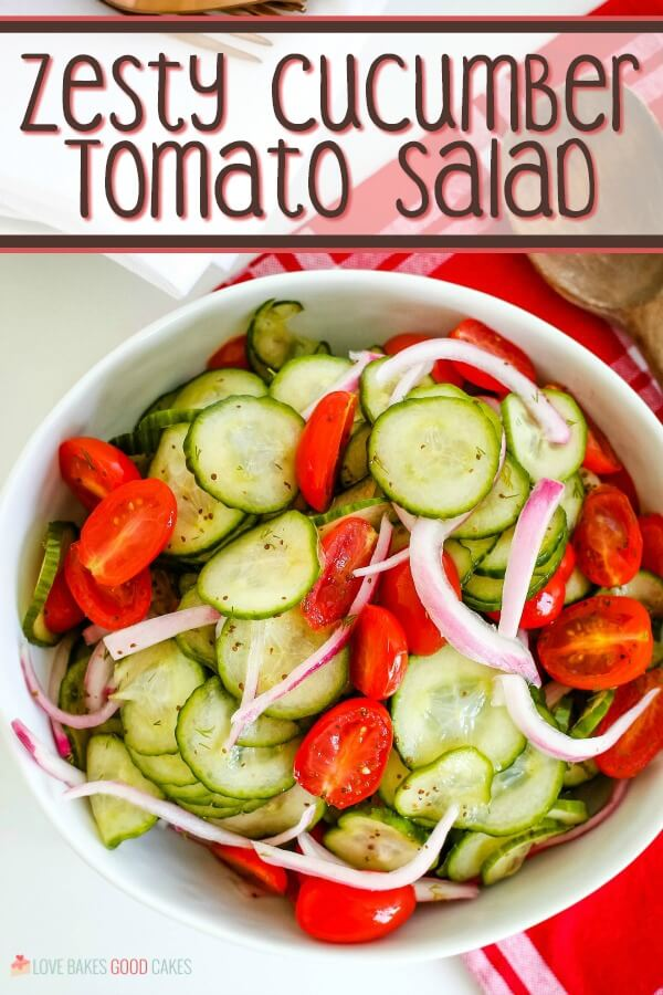 Zesty Cucumber Tomato Salad