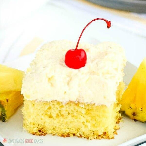 Pineapple Sunshine Cake on plate