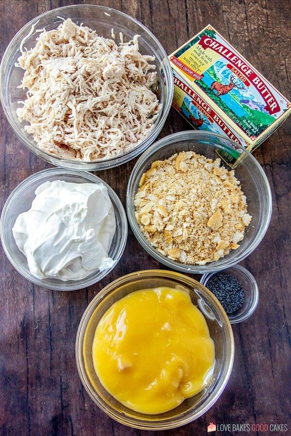 Poppy Seed Chicken Casserole ingredients