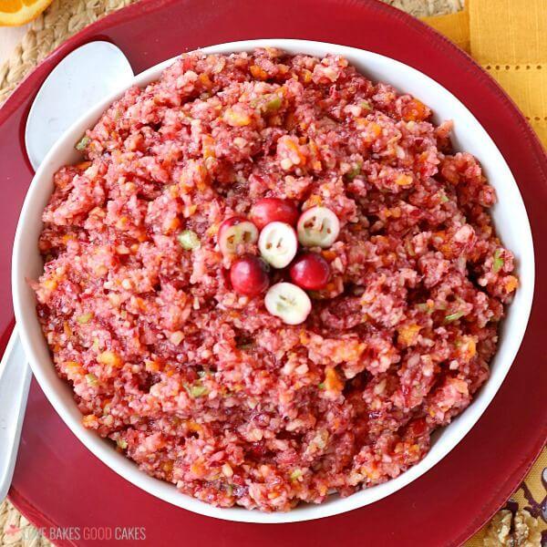 finished cranberry with orange relish recipe.
