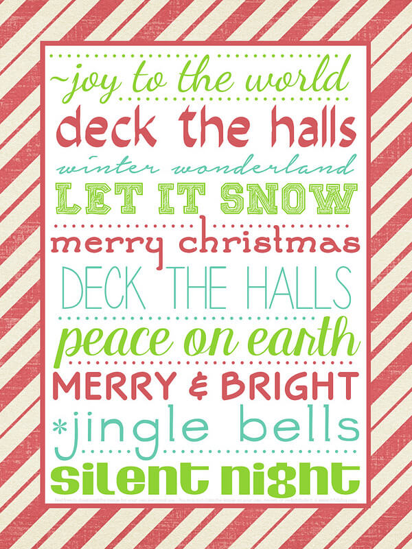 This Christmas Printable is free and perfect for the holiday season! It adds a festive touch wherever you choose to display it.