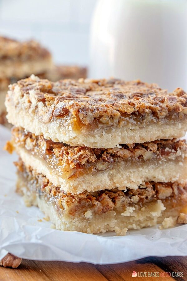 closeup of Pecan Pie Bars