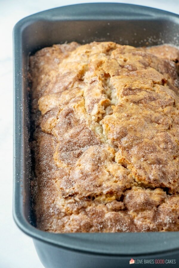 Amish Friendship Bread with Cinnamon in pan