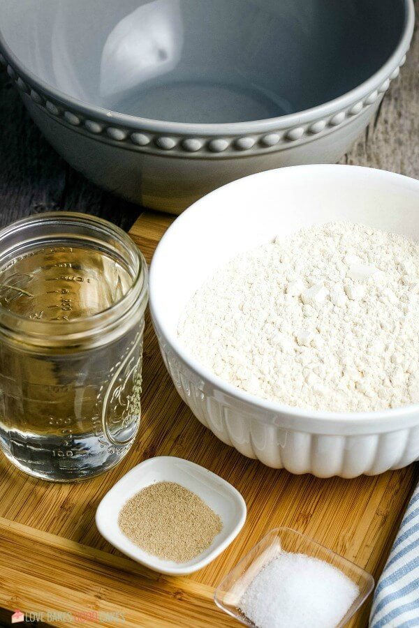Ingredients needed to make No-Knead Bread