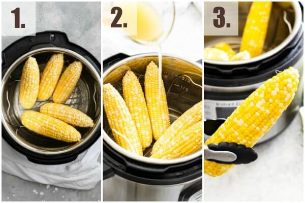 step by step how to make instant pot corn on the cob