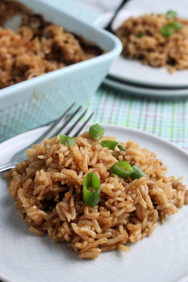 stick of butter rice on plate